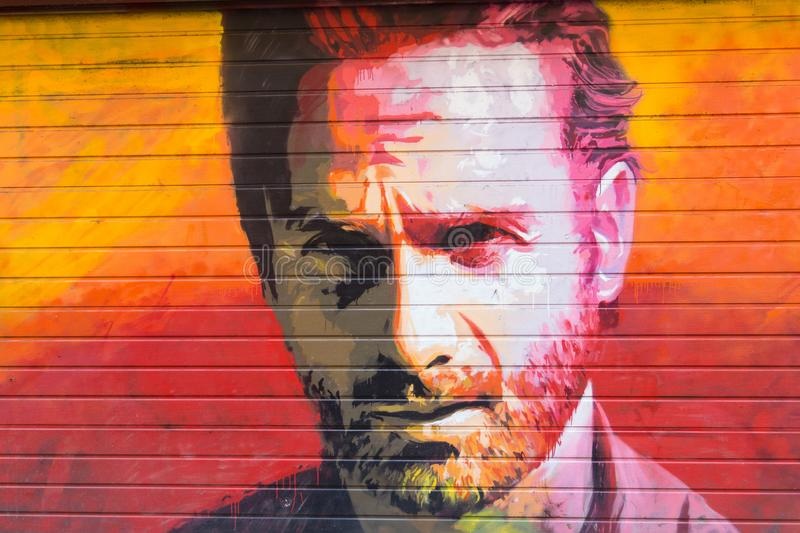 Tribut zum Schauspieler Andrew Lincoln in der Persönlichkeit von Rick Gri lizenzfreies stockfoto