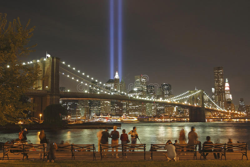 Download Tribute In Light To Honor  Victims Of 9/11-2001 Editorial Image - Image of 2001, manhattan: 16020340
