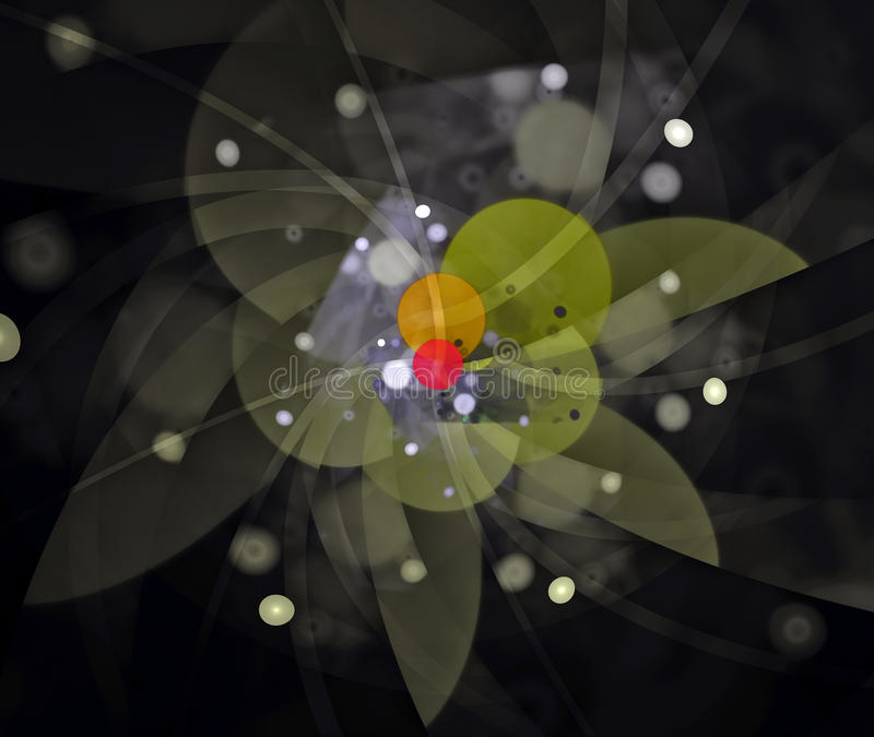 Tribute to Calder. An abstract tribute to the artist Alexander Calder royalty free illustration
