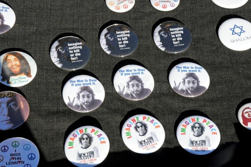 Tribute to Legendary Beatles Musician John Lennon stock photography