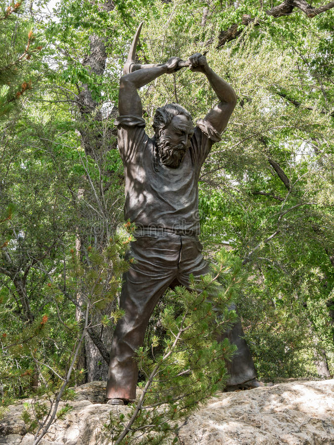 Tribute to Nevada Miners. Statue of a miner on the State Capitol grounds pays tribute to miners in Nevada royalty free stock photos