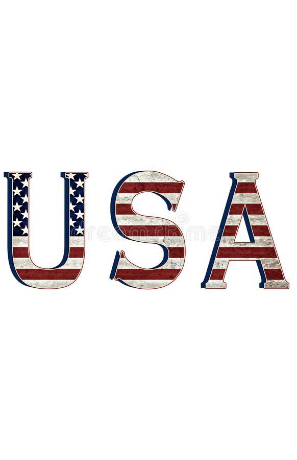 USA. Tribute to the United States of America royalty free illustration