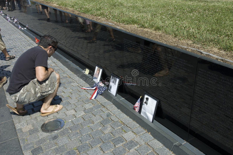 Tribute to Vietnam soldier stock images