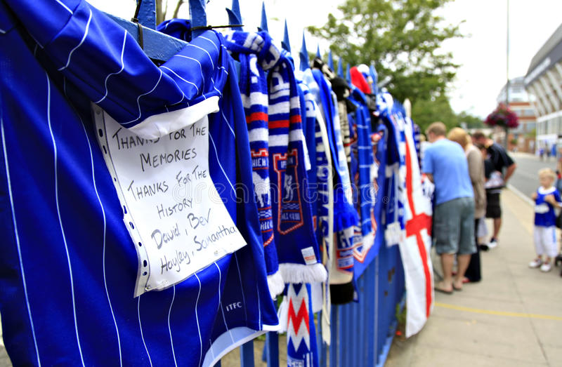 Download Tributes to Bobby Robson editorial stock image. Image of itfc - 10379489