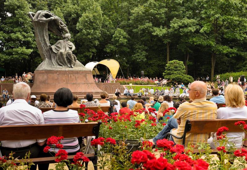 Tributo al concierto abierto de Chopin, Varsovia imagen de archivo libre de regalías