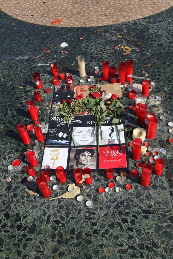 Tributo a Barcellona, il 09 del Michael Jackson giugno ' fotografie stock libere da diritti