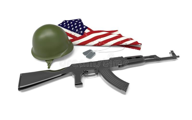 Tributo caído do soldado ilustração stock