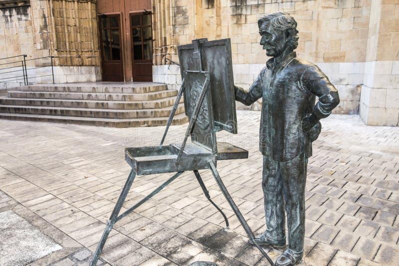 Tributo da estátua da escultura ao artista Juan Jose Salas por Carlos Ve fotografia de stock royalty free
