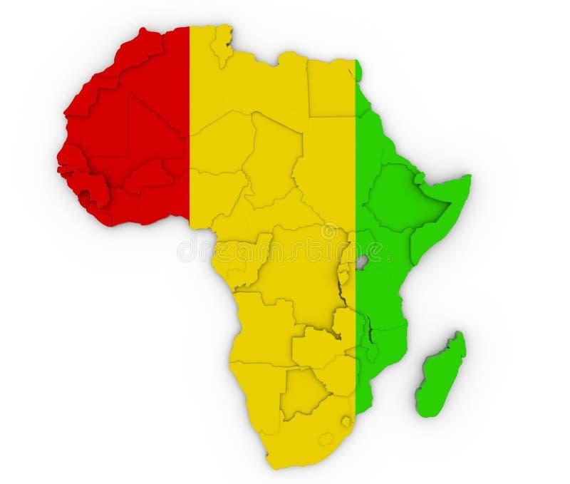 Tributo de África ilustração stock