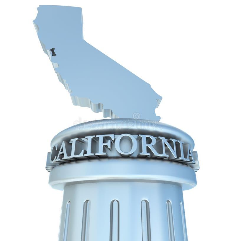 Tributo de Califórnia ilustração do vetor