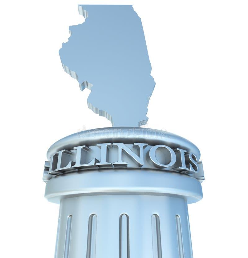 Tributo de Illinois ilustração royalty free
