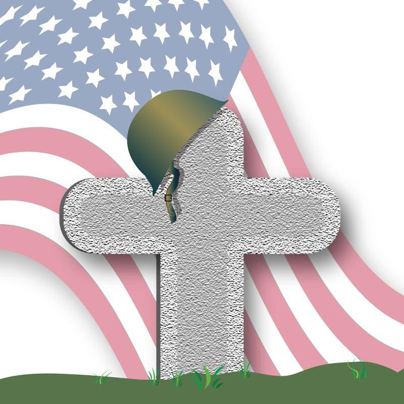 Tributo de Memorial Day ilustração do vetor