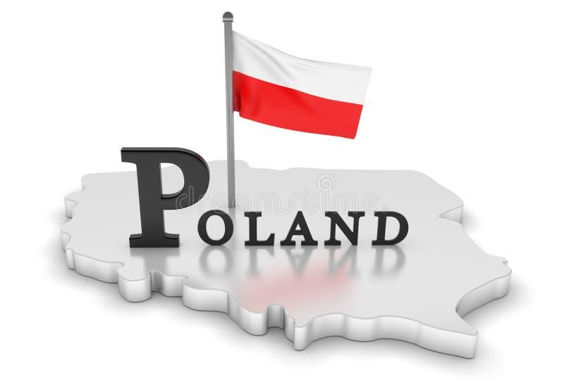 Tributo de Poland ilustração royalty free