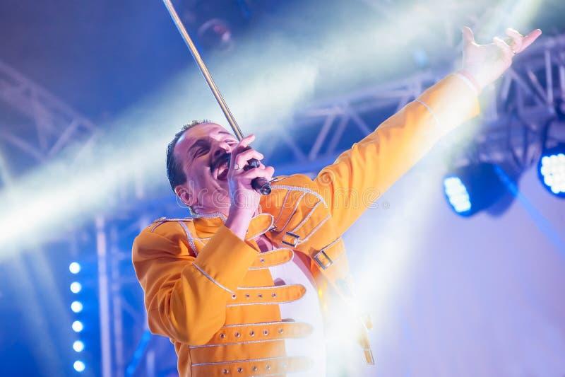 Tributo del Mercury di Freddie fotografia stock