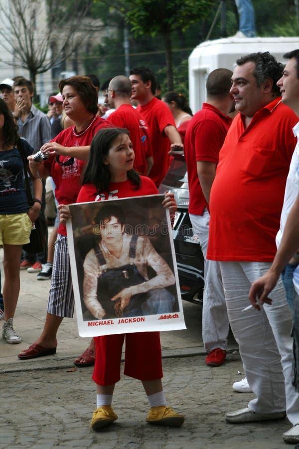 Tributo di ballo del Michael Jackson fotografia stock