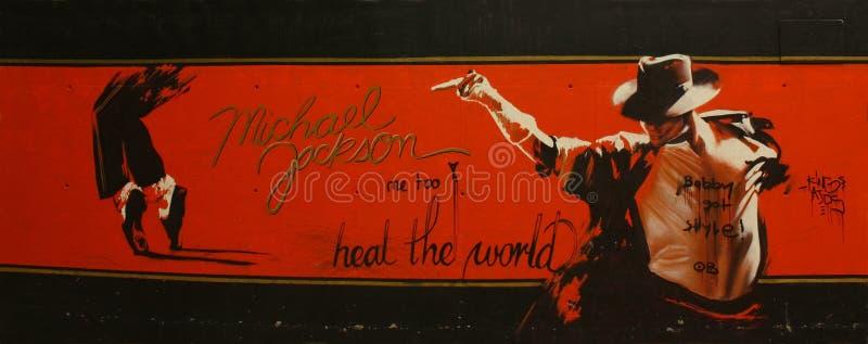 Tributo a Michael Jackson immagini stock
