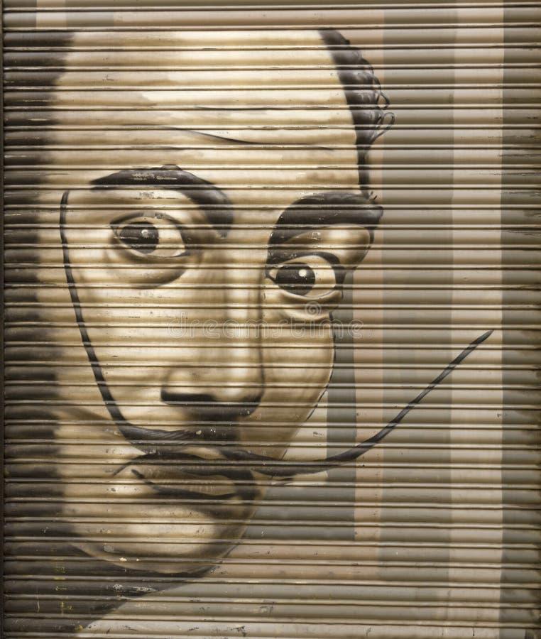 Tributo a Salvador Dali imagens de stock