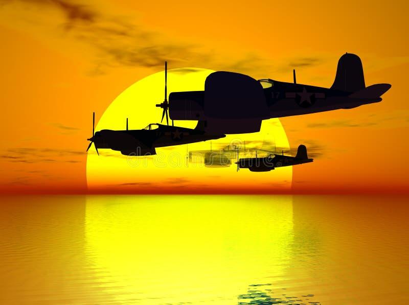 Tributo a un aviador caido stock de ilustración