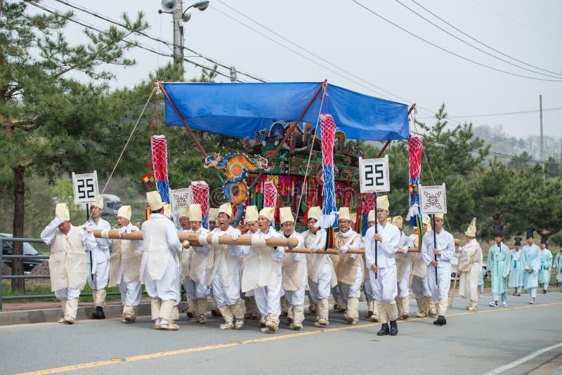 Tributos, eventos tradicionales de la Corea del Sur para el difunto foto de archivo libre de regalías