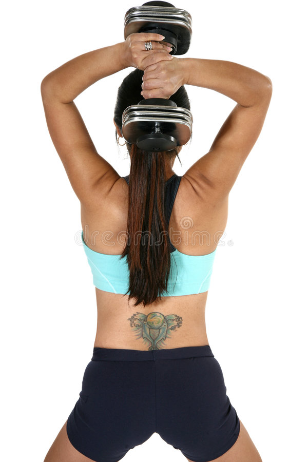 Download Tricep Dumbbell Extension Royalty Free Stock Photo - Image: 4168065