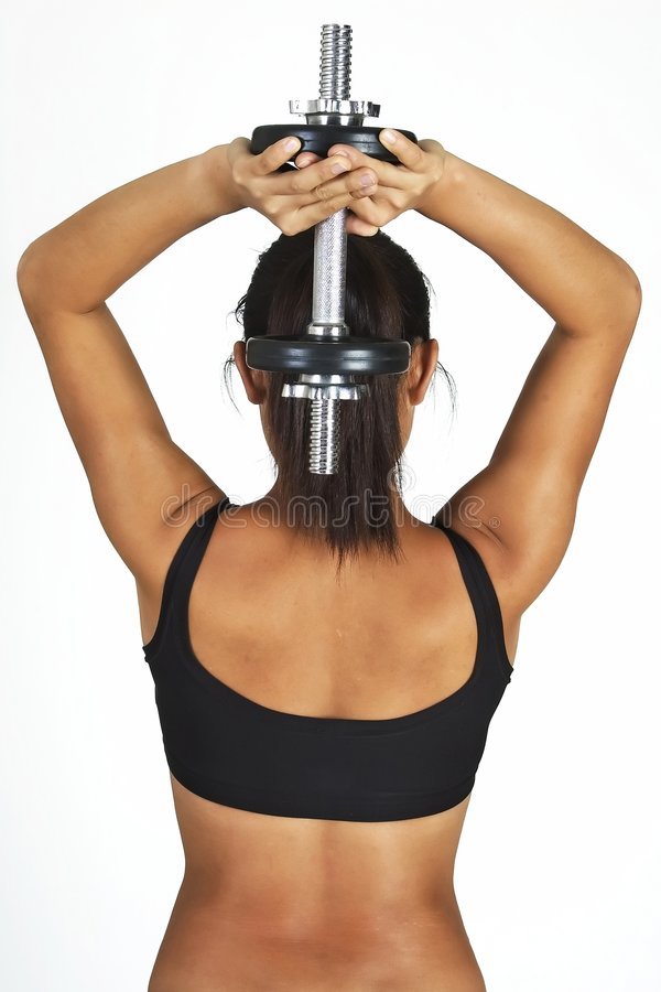 Download Tricep Press stock image. Image of bodybuilder, asian, lycra - 73525