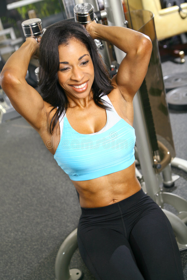 Tricep Training royalty free stock images