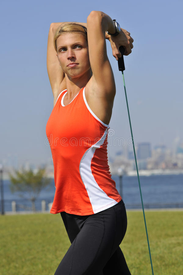 Download Triceps Exercise In Urban Park Royalty Free Stock Photography - Image: 15714357