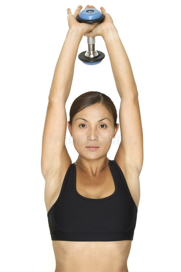 Triceps Overhead Extension 2 royalty free stock photography