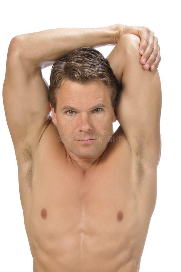 Triceps rozciągliwość zdjęcie royalty free
