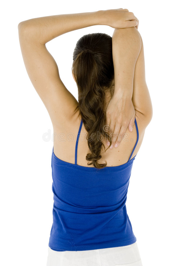Triceps Stretch From Behind Stock Image