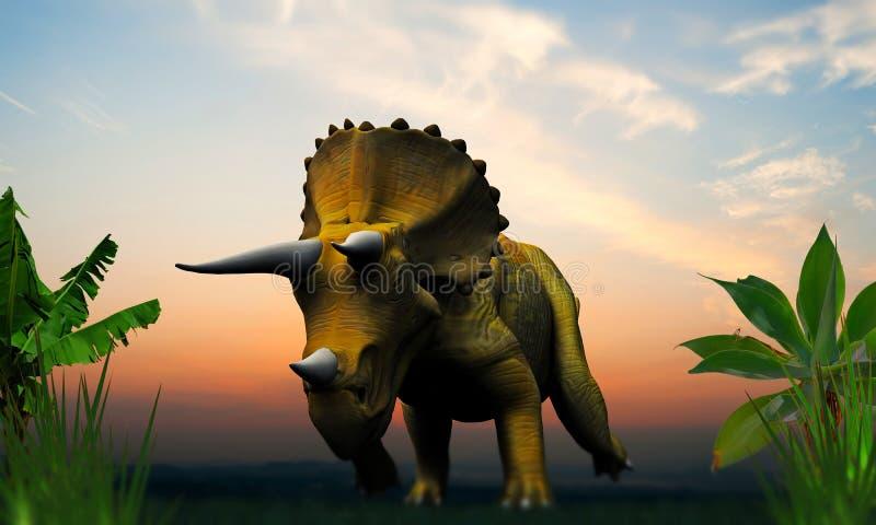 Triceratopos illustration stock