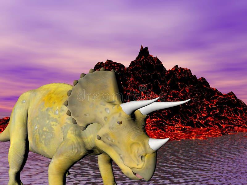 Triceratops illustration de vecteur
