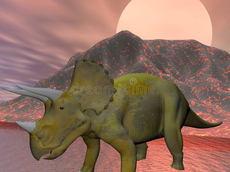 Download Triceratops stock illustration. Image of dangerous, monster - 5810808