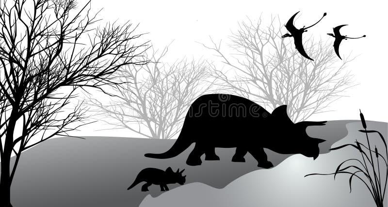 triceratops ilustración del vector