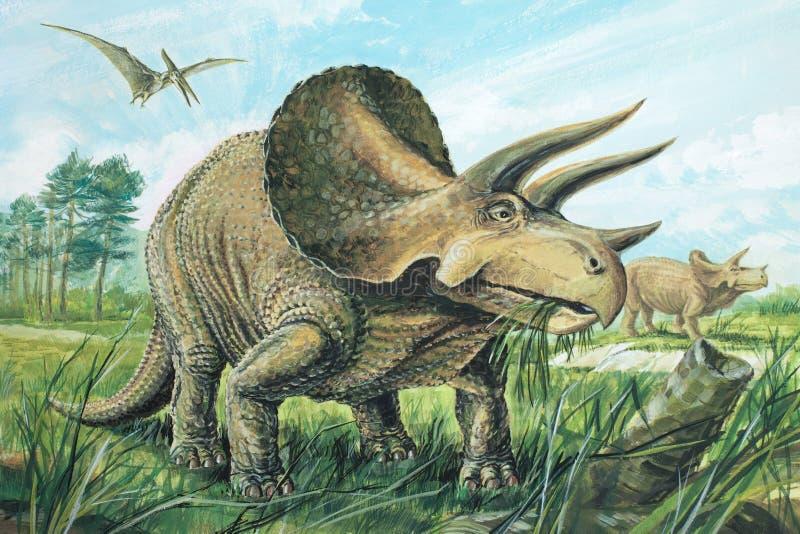 triceratops royalty-vrije illustratie