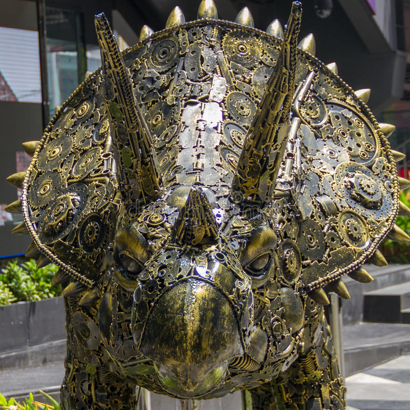 triceratops royaltyfria foton