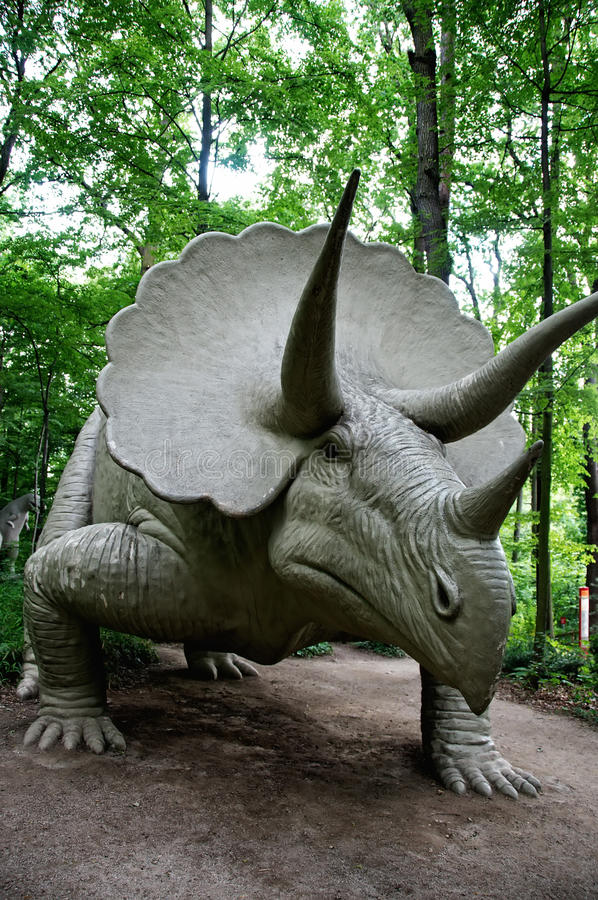 Triceratops. In Saurier Park, Kleinwelka, Germany stock images