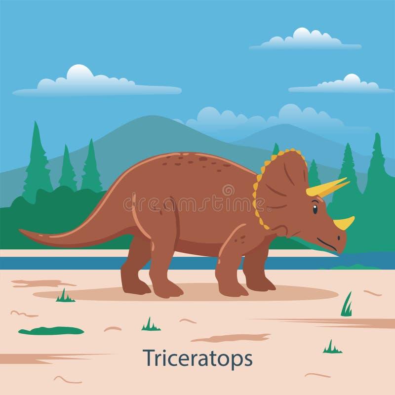 triceratops Animal prehistórico stock de ilustración