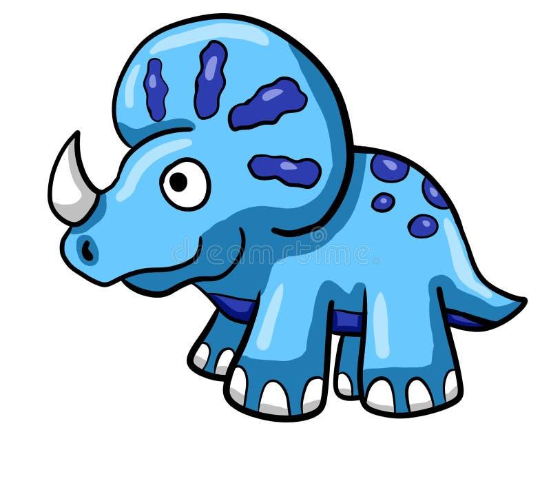 Triceratops azul épico stock de ilustración