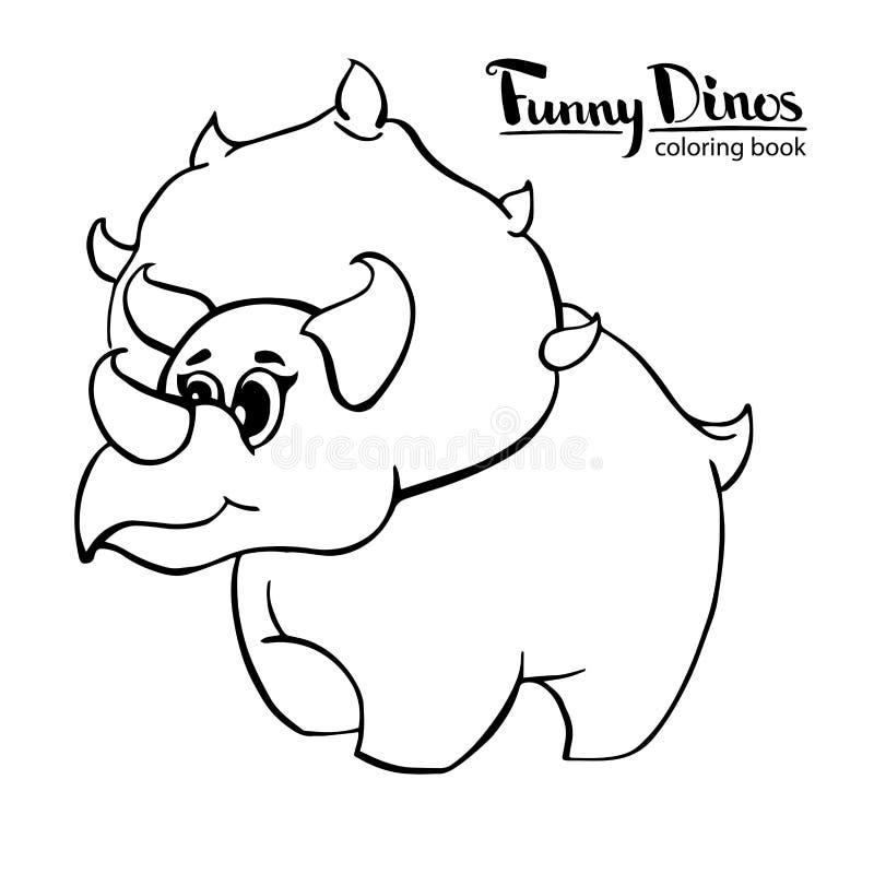 Triceratops bueno divertido del dinosaurio de la historieta del ` s de los niños libre illustration