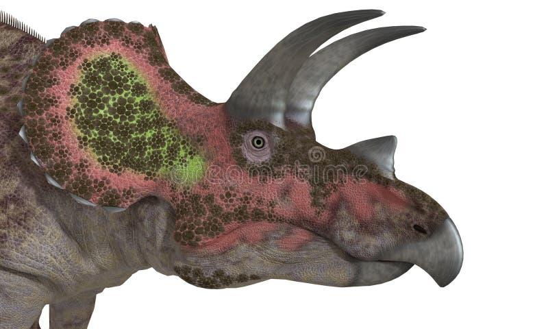 Triceratops d'isolement illustration libre de droits