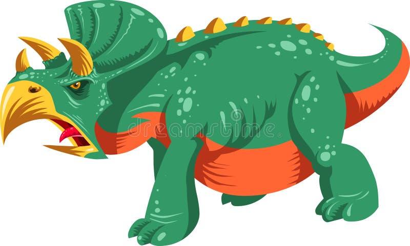 Triceratops de la historieta ilustración del vector