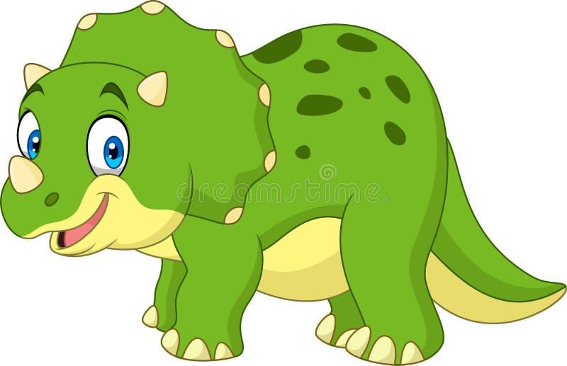 Triceratops de la historieta aislado en el fondo blanco libre illustration