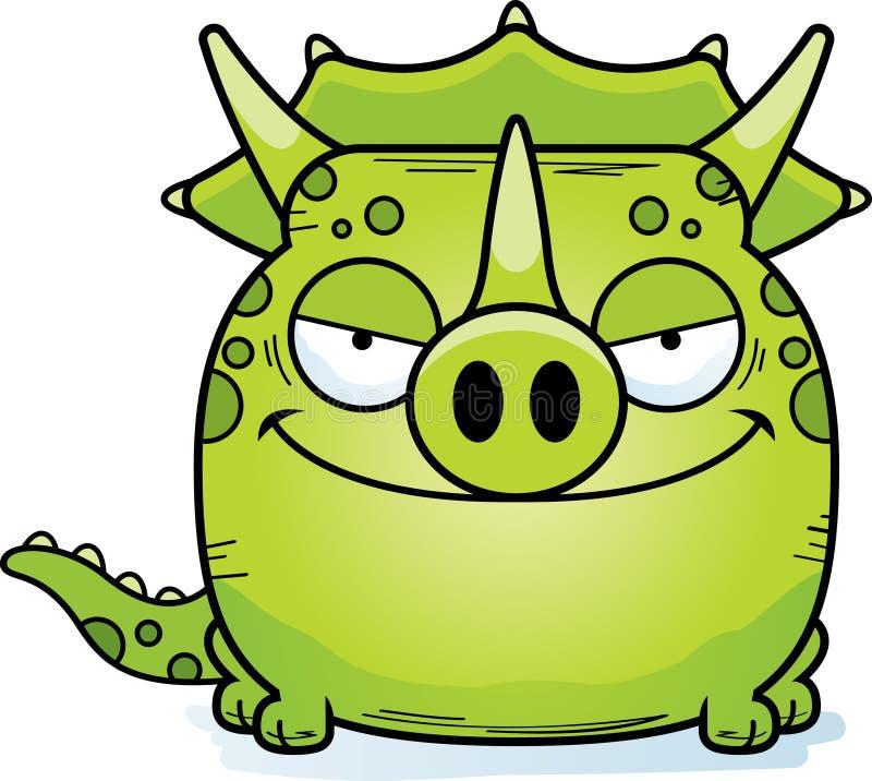 Triceratops desviado de la historieta stock de ilustración
