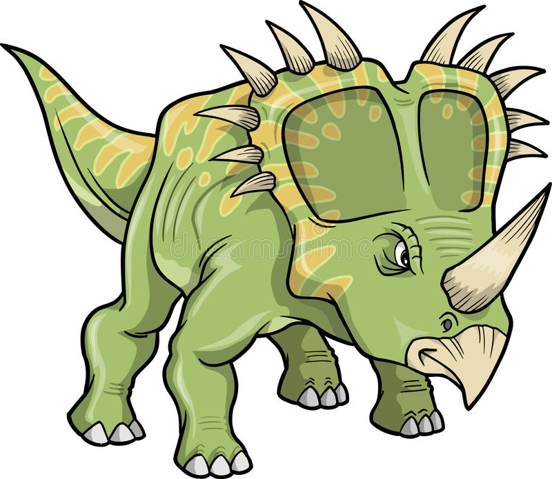 Download Triceratops Dinosaur stock vector. Image of fossil, tail - 11951209