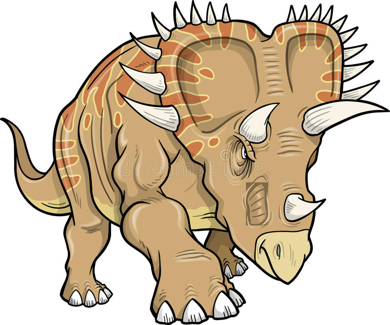 Download Triceratops Dinosaur stock vector. Image of wildlife - 13041109