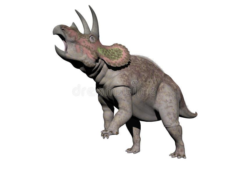 Triceratops dinosaur - 3d render. Triceratops dinosaur in white background - 3d render royalty free illustration