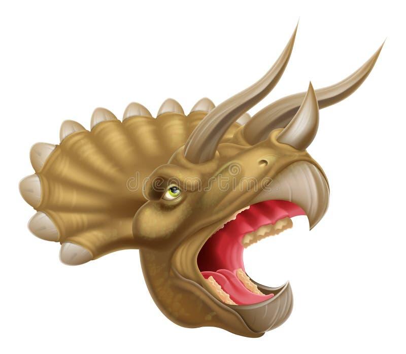 Triceratops Dinosaur Head Stock Vector Illustration Of