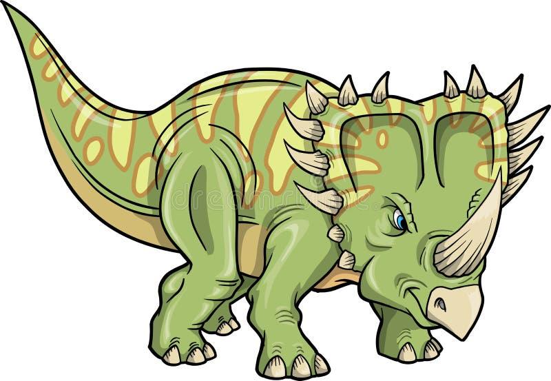 triceratopsdinosauriergekritzelskizze vektor abbildung