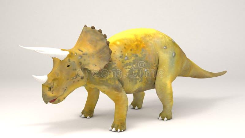 Triceratops-dinossauro ilustração royalty free